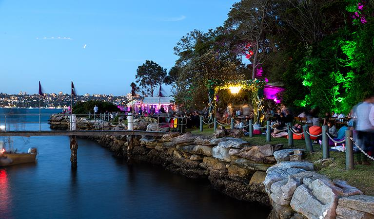 Сидней встреча Нового года на острове Clark Island в Австралии